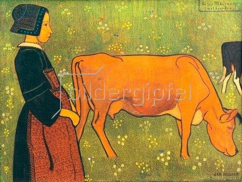 Jan Verkade: Marianne et sa vache (Marianne und ihre Kuh), 1893