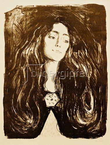 Edvard Munch: Die Brosche, Eva Mudocci, 1903