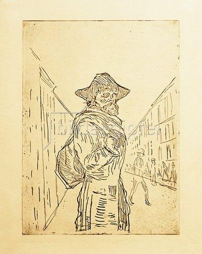 Edvard Munch: Der Lumpensammler 1908