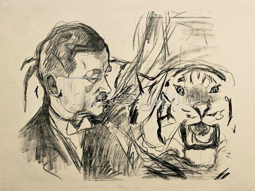 Edvard Munch: Der Tigerbändiger Richard Sawade 1916