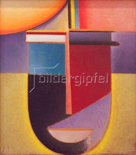 Alexej von Jawlensky: Abstrakter Kopf: Sonne - Farbe - Leben, 1926, N.109