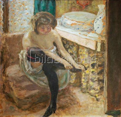 Pierre Bonnard: Die Frau mit den schwarzen Strümpfen