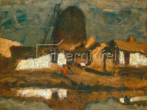 Joseph Kostka: Landschaft mit Windmühle, 1920