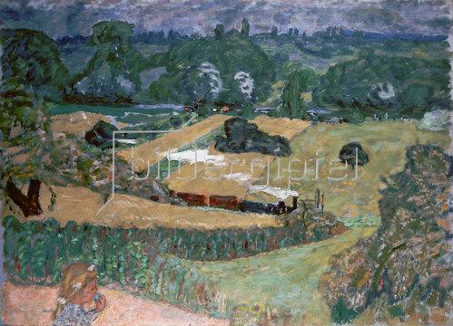 Pierre Bonnard: Landschaft mit Güterzug