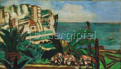 Max Beckmann: Rivieralandschaft mit Felsen