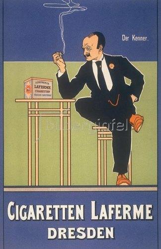 Anonym: Der Kenner / Cigaretten Laferme Dresden