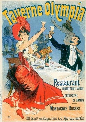 Jules Cheret: Taverne Olympia / Plakat Chéret