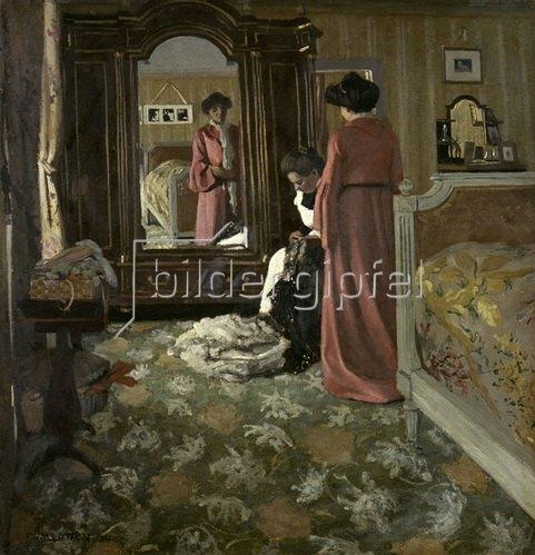 Interieur von Felix Vallotton Kunstdruck > Bildergipfel.de