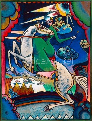 Wassily Kandinsky: Amazone in den Bergen, 1918.