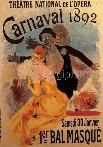 Jules Cheret: Théâtre de l'Opéra / Carnaval 1892