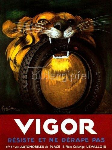 Leonetto Cappiello: VIGOR. RÉSISTE ET NE DERAPE PAS