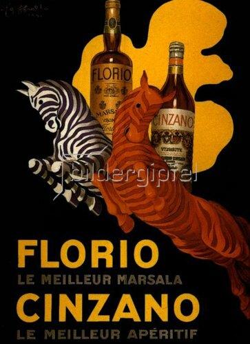 Leonetto Cappiello: FLORIO, CINZANO