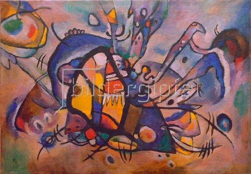Wassily Kandinsky: Abstrakte Komposition, Feuervogel, 1917.Öl auf Leinwand, 68 × 97,6 cm, Zürich, Sammlung Herman Berninger,