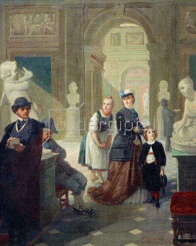 Moritz Daniel Oppenheim: Museumsbesucher, 1865