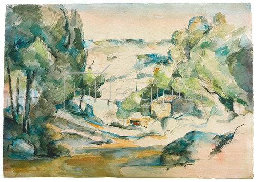 Paul Cézanne: Paysage en Provence (Landschaft in der Provence), um 1880.