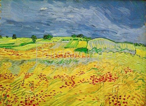 Vincent van Gogh: Weizenfeld mit Gewitterhimmel, 1890