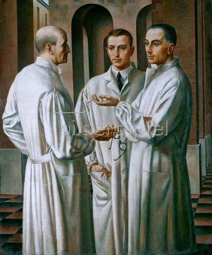 Ubaldo Oppi: I tre chirurghi (Die drei Chirurgen), 1926