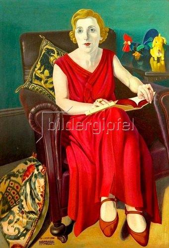 Cagnaccio di San Pietro: Ritratto della Signora Vighi (Bildnis der Signora Vighi), 1930/36
