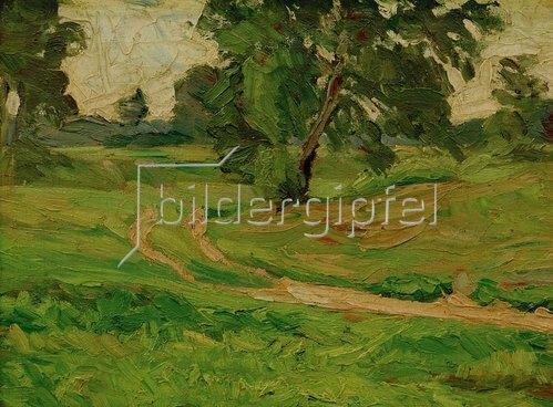 Carl Ludwig Kaaz: Schwitters, Kurt 1887?1948.?A S Landschaft 1. Hochsommer?,1914/16.Öl auf Leinwand, 45 × 60,4 cm.Augsburg, Privatbesitz.