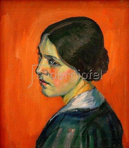 Kurt Schwitters: Porträt Helma Schwitters,1916.