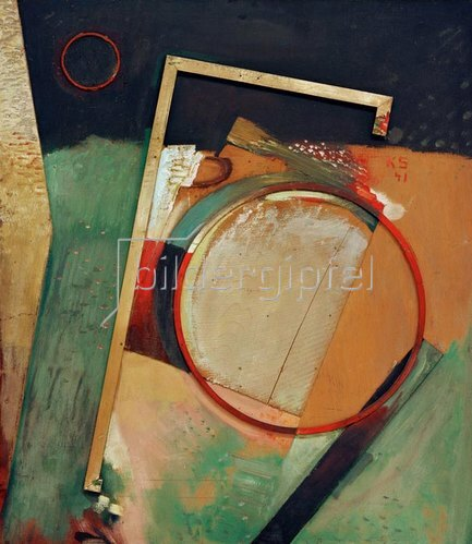 Kurt Schwitters: Bild mit Ring und Rahmen, 1941.