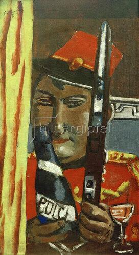 Max Beckmann: Peruanischer Soldat will trinken, 1929