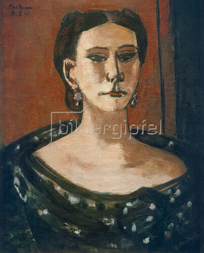 Max Beckmann: Bildnis Louise Pulitzer, 1949