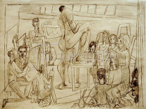 Max Beckmann: Studenten, 1947
