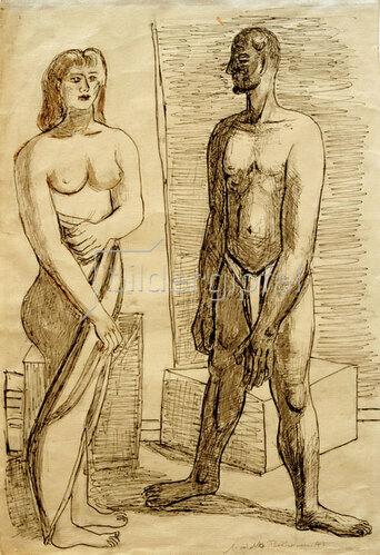 Max Beckmann: Modelle, 1947