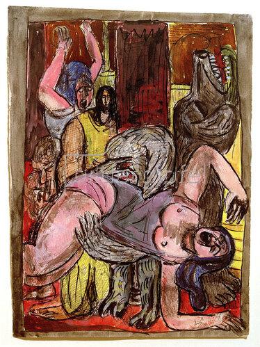 Max Beckmann: Die Hunde werden größer, 1947