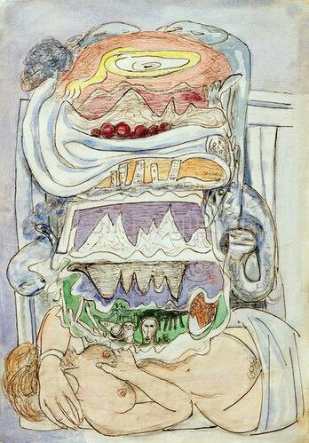 Max Beckmann: Dream of Weltkarte (Universum), 1947/49