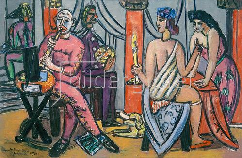 Max Beckmann: Pompe´ Clowns, 1950