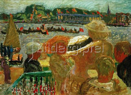 Pierre Bonnard: Blick vom Uhlenhorster Faehrhaus auf die Aussenalster