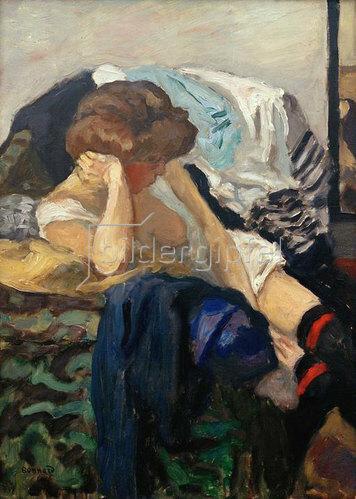 Pierre Bonnard: Die roten Strumpfbaender