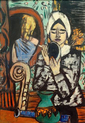 Max Beckmann: Dame mit Spiegel, 1943
