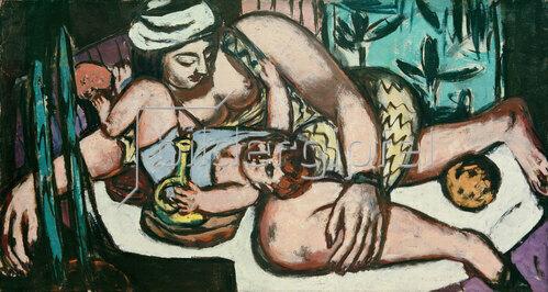 Max Beckmann: Mutter mit spielendem Kind, 1946