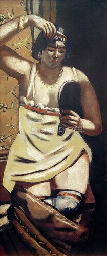 Max Beckmann: Zigeunerin, Akt mit Spiegel, 1928