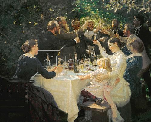 Peter Severin Kroyer: Hip, Hip, Hurra!  Künstlerfest in Skagen 1888