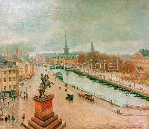 Arthur Nielsen: Ansicht von Kopenhagen, 1915