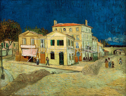 Vincent van Gogh: The Yellow House, Arles, 1888.