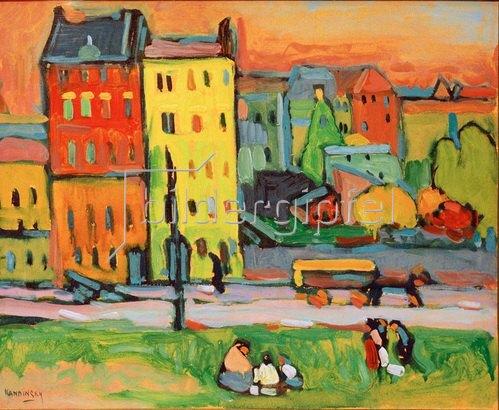 Wassily Kandinsky: Häuser in München, 1908.