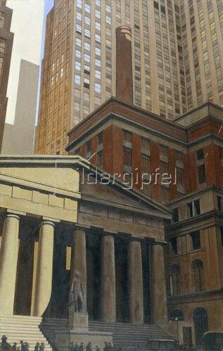 Bernard Boutet de Monvel: Federal Hall, Wall Street, Ecke Broad Street