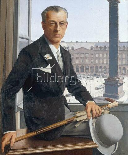 Bernard Boutet de Monvel: Selbstportrait mit Place Vendôme, 1925