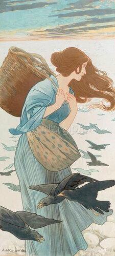 Alexandre de Riquer: Der Winter, 1899/1900