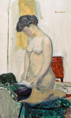 Pierre Bonnard: Stehender Akt im Profil