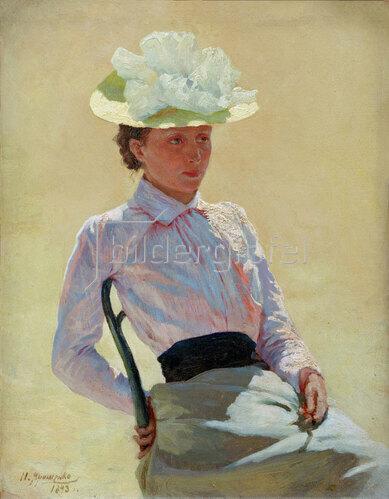 Nikolai Alexandrowitsch Jaroschenko: Porträt einer unbekannten Frau, 1893