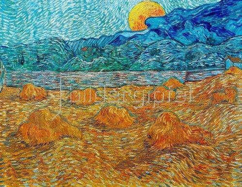 Vincent van Gogh: Abendlandschaft mit Mond. Saint-Rémy-de-Provence, 1889