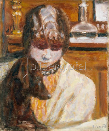 Pierre Bonnard: Frau mit Hund