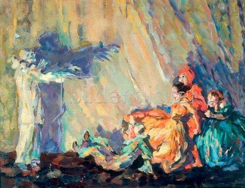 Sergei Jurjewitsch Sudeikin: Szenenbild zu Der Bajazzo 1911