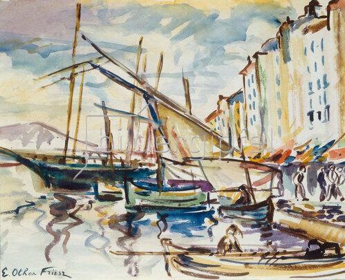 Emile Othon Friesz: Port de Toulon, ca. 1925-1929